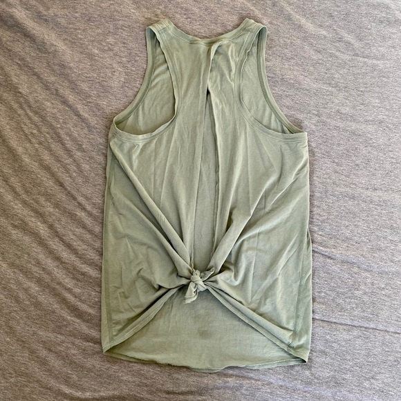 Willow Green All Tied Up Lululemon Tank